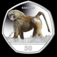 Gibraltar 50p Coin 2019 Primates 'Diamond Finish' - Gibraltar
