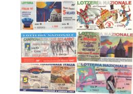 N.21 BIGLIETTI LOTTERIE NAZIONALI ITALIANE - Biglietti Della Lotteria