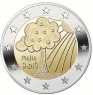 Pièce De 2 Euros Commémorative Malte 2019 : Nature Et Environnement - Malte