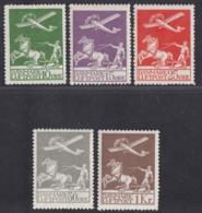 Denmark - 1925-30 - 10o-1kr Yv. Airmail 1-5 - MH - 1913-47 (Christian X)