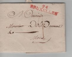 PR7575/ Précurseur LAC Griffe Bruxelles 94 Port 2 Daté BXL 11 Prairial An 9 (31/5/1801 > Mons - 1794-1814 (French Period)