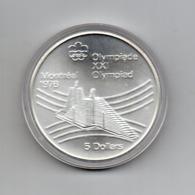 Canada - 1976 - 5 Dollari - XXI^ Olimpiadi Di Montreal Del 1976- Argento 925 - Peso 24,3 Grammi - In Capsula - (MW2632) - Canada