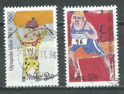 Norvège YT N°1166/1167 Jeux Olympiques Oblitéré ° - Norvège