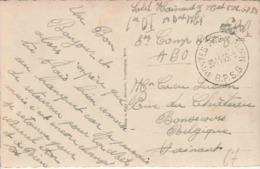 """BELGIË MIL POST (ZK Holpe)  """"SM"""" """"B P S  8 /30.11.46""""  (van 1 D.I. ) (BPS 8 Van 10.7.47 TOT 1.8.78 In BENSBERG) - Postmark Collection"""
