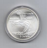 Canada - 1975 - 5 Dollari - XXI^ Olimpiadi Di Montreal Del 1976- Argento 925 - Peso 24,3 Grammi - In Capsula - (MW2633) - Canada