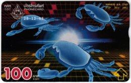 THAILAND F-149 Hologram TOT - Painting, Animal, Sea Life, Crab - 121G - Used - Thaïland