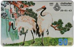 THAILAND F-155 Hologram TOT - Painting, Animal, Bird - 967E - Used - Thaïland