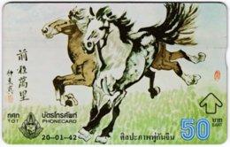 THAILAND F-156 Hologram TOT - Painting, Animal, Horse - 849G - Used - Thaïland