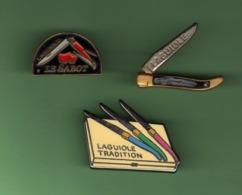 LAGUIOLE *** Lot De 3 Pin's Differents *** 5055 - Marques