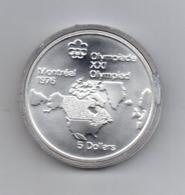 Canada - 1973 - 5 Dollari - XXI^ Olimpiadi Di Montreal Del 1976- Argento 925 - Peso 24,3 Grammi - In Capsula - (MW2634) - Canada