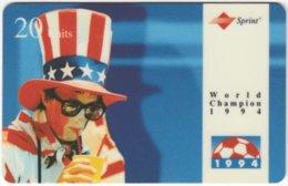USA C-657 Prepaid Sprint - Event, Sport, Soccer, World Cup - Used - Sprint