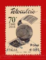 Italia- °- 2016 - TOTOCALCIO - Unif. 3748.  Usato. - 6. 1946-.. Repubblica