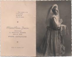 Santino Prima Comunione Di Maria Rosa Faccin (Malo, Vicenza). Anno 1953 - Communion