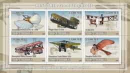 Mozambique 2009 MNH - History Of Aviation II/ Era Of 1900-1918. YT 2632-2637, Mi 3222-3227 - Mozambique