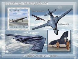 Mozambique 2009 MNH - History Of Aviation VI/ Supersonic Planes. YT 201, Mi 3257/BL258 - Mozambico
