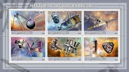 Mozambique 2009 MNH - History Of Space Flight I/ Satellites & Probes. YT 2530-2535, Mi 3258-3263 - Mozambico