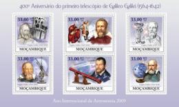 Mozambique 2009 MNH - 400th Anniversary Of The Telescope Of Galileo. Sc 1888, YT 2806-2811, Mi 3371-3376 - Mozambico