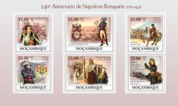 Mozambique 2009 MNH - 240th Anniversary Of Napoleon Bonaparte (1769-1821). Sc 1892, YT 2674-2679, Mi 3413-3418 - Mozambique