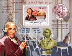 Mozambique 2009 MNH - 200th Anniversary Of Joseph Haydn (1732-1809). Sc 1921, YT 215, Mi 3398/BL278 - Mozambique