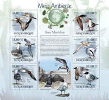 Mozambique 2010 MNH - Sea Birds. Sc 1947, YT 2842-2847, Mi 3495-3500 - Mozambique