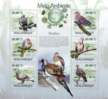 Mozambique 2010 MNH - Pigeons. Sc 1939, YT 2926-2931, Mi 3483-3488 - Mosambik