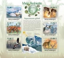 Mozambique 2010 MNH - Global Warming (Animals & Birds). Sc 1958, YT 2854-2859, Mi 3644-3649 - Mozambique