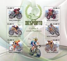 Mozambique 2010 MNH - Road Bicycles Racing. Sc 2001, YT 3070-3075, Mi 3725-3730 - Mozambique