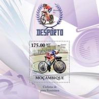 Mozambique 2010 MNH - Track Cycling Racers (Jeannie Longo). Sc 2018, YT 271, Mi 3737/BL325 - Mozambique