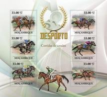 Mozambique 2010 MNH - Horse Racing. Sc 2005, YT 3112-3117, Mi 3786-3791 - Mozambique