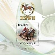 Mozambique 2010 MNH - Horse Racing. Sc 2032, YT 277, Mi 3792/BL335 - Mozambique