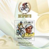 Mozambique 2010 MNH - Cycling. Sc 2039, YT 279, Mi 3739/BL327 - Mozambique