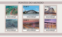 Mozambique 2010 MNH - Bridges Of The World (Train Bridge Beipanjiang, China). Sc 2048, YT 3170-3175, Mi 4048-4053 - Mozambique