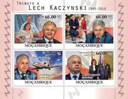 Mozambique 2010 MNH - Tribute To Lech Kaczynski (1949-2010). Sc 2104, YT 3368-3371, Mi 4245-4248 - Mozambique