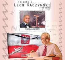 Mozambique 2010 MNH - Tribute To Lech Kaczynski (1949-2010). Sc 2116, YT 320, Mi 4249/BL401 - Mozambique