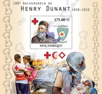 Mozambique 2010 MNH - 100th Of Henri Dunant (Red Cross). Sc 2113, YT 330, Mi 4209/BL393 - Mozambique