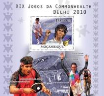 Mozambique 2010 MNH - 2010 India Commonwealth Games. Sc 2156, YT 337, Mi 4077/BL375 - Mozambique