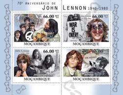 Mozambique 2010 MNH - 70th Anniversary Of John Lennon (1940-1980). Sc 2103, YT 3350-3353, Mi 4215-4218 - Mosambik