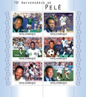 Mozambique 2010 MNH - 70th Anniversary Of Pele, Football. Sc 2125, YT 3486-3491, Mi 4151-4156 - Mosambik