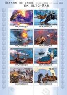 Mozambique 2010 MNH - Crude Oil Spills At Sea, Birds & Ships. Sc 2152, YT 3388-3395, Mi 4105-4112 - Mozambique