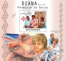 Mozambique 2010 MNH - Diana Princess Of Wales (1861-1997). Sc 2138, YT 329, Mi 4143/BL383 - Mosambik