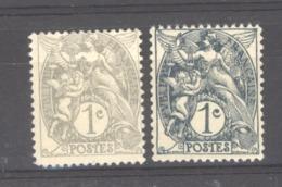 France  :  Yv  107-07a  ** Type IB - 1900-29 Blanc