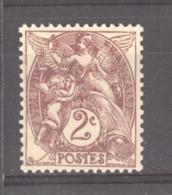 France  :  Yv  108b  **   Type II - 1900-29 Blanc