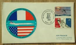 Etats-Unis - PREMIER VOL NEW YORK / PARIS PAR CONCORDE - 1977 - Storia Postale