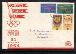 Uganda Kenya Tanganyika Zanzibar  1964 Olympic Games Tokyo Interesting Cover - Sommer 1964: Tokio
