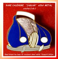 """SUPER PIN'S AUTOMOBILE """"JAGUAR"""" : Rare Pin's CALLENDRE De La MARQUE De LUXE, émaillé Grand Feu Base Or Métallisé 3,2X3c - Jaguar"""