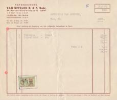 1960: Factuur Van ## Fotogravuur VAN UFFELEN R. & P. Gebr., St.-Pietersnieuwstraat, 32, GENT ## Aan ## Drukkerij ... - Printing & Stationeries
