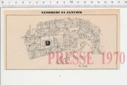 2 Scans Humour Télévision Télespectateur Bibliothèque Privée Livres Lecture Toile D'araignée Naufrage Baignoire 198PF35 - Alte Papiere