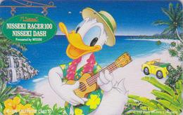 Télécarte Japon / 110-011 - DISNEY - DONALD DUCK In HAWAII - Beach & Ukulele Music Japan Phonecard - Disney