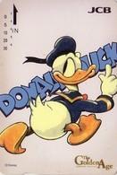 Carte Prépayée Japon - DISNEY / Série Golden Age 1/5 - Banque Bank JCB - DONALD DUCK - Japan Prepaid Quo Card - Disney