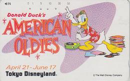 Télécarte Japon / 110-011 - DISNEY Disneyland - Série American Oldies - Donald Duck - Japan Phonecard Telefonkarte - Disney